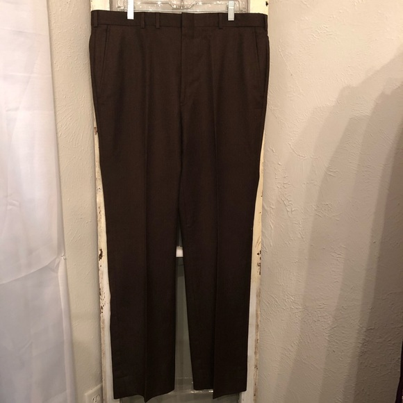 Austin Reed Pants Chocolate Brown Wool Trousers 38x32 Poshmark